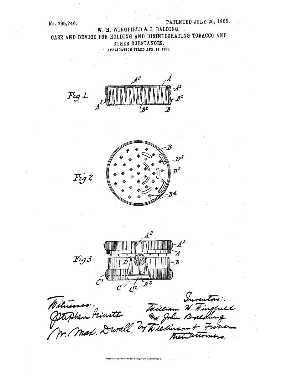 herb grinder patent